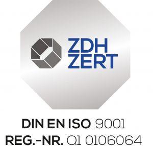 Zertifizierung Siegel DIN ISO 9001
